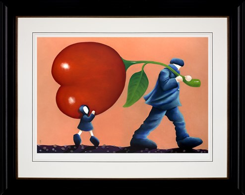 Helping Dad by Mackenzie Thorpe - Framed Limited Edition on Paper